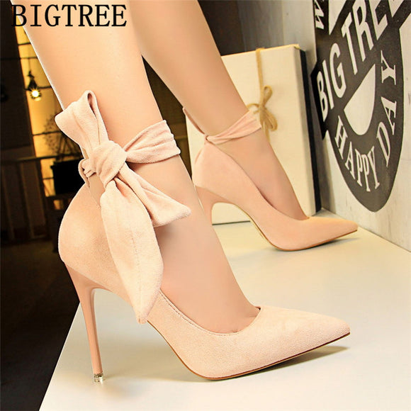 Butterfly Knot Lux high heels