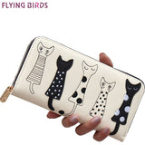 FLYING BIRDS!  Leather Wallet