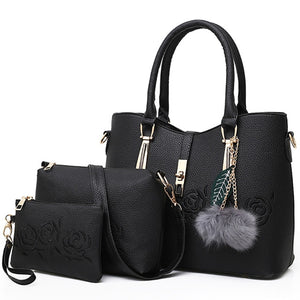 Bolsas 3pcs Leather Bags Handbags