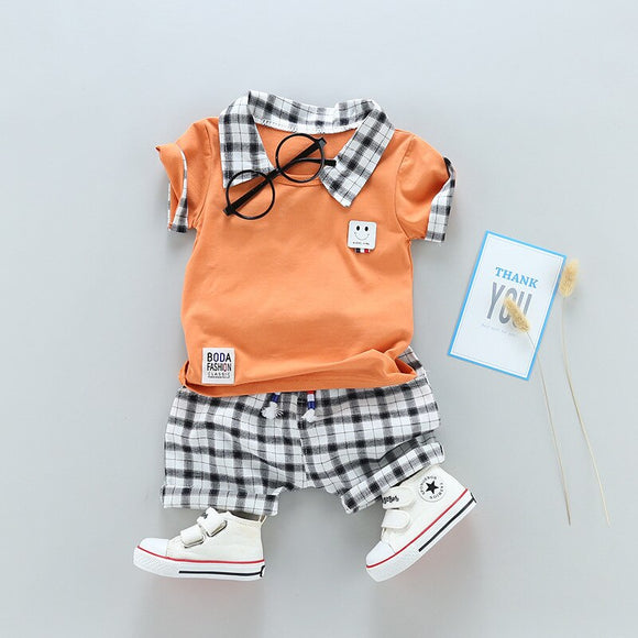 Two Children's Clothing Boy Cotton Suit Gentleman Undertakes Small Children's Clothing