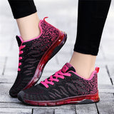Fitness Sneakers Flying Woven Air Cushion Net Shoes