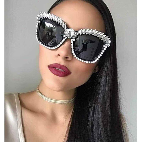 Cat Eye Sunglasses Women Rhinestone Fashion Shades