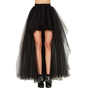 High Waist Floor-Length Tutu Skirt  S-3XL