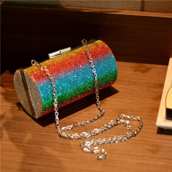 Sparkle in Rainbows Evening Purse