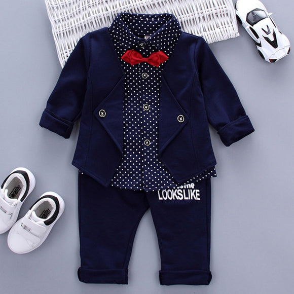 Children Clothing Sets Autumn Sport Suit Baby Boys Clothes Slong Sleeve Set Costume For Kids Jacket+Tshirt+Jeans 3Pcs