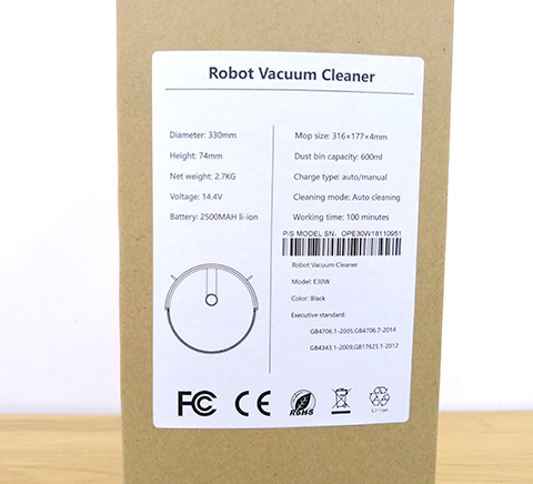 robotic vacuum cleaner label