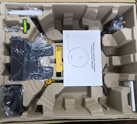 robotic vacuum cleaner package inside