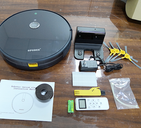 package content of robotic vacuum cleaner