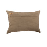 Days Of Leaves - Art Silk Brown Decorative Lumbar Pillow Cover