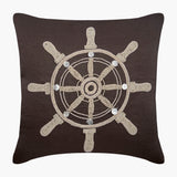 Sailboat Wheel Pillow Cover
