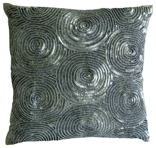 All Eyes On Silver Pillow Cover