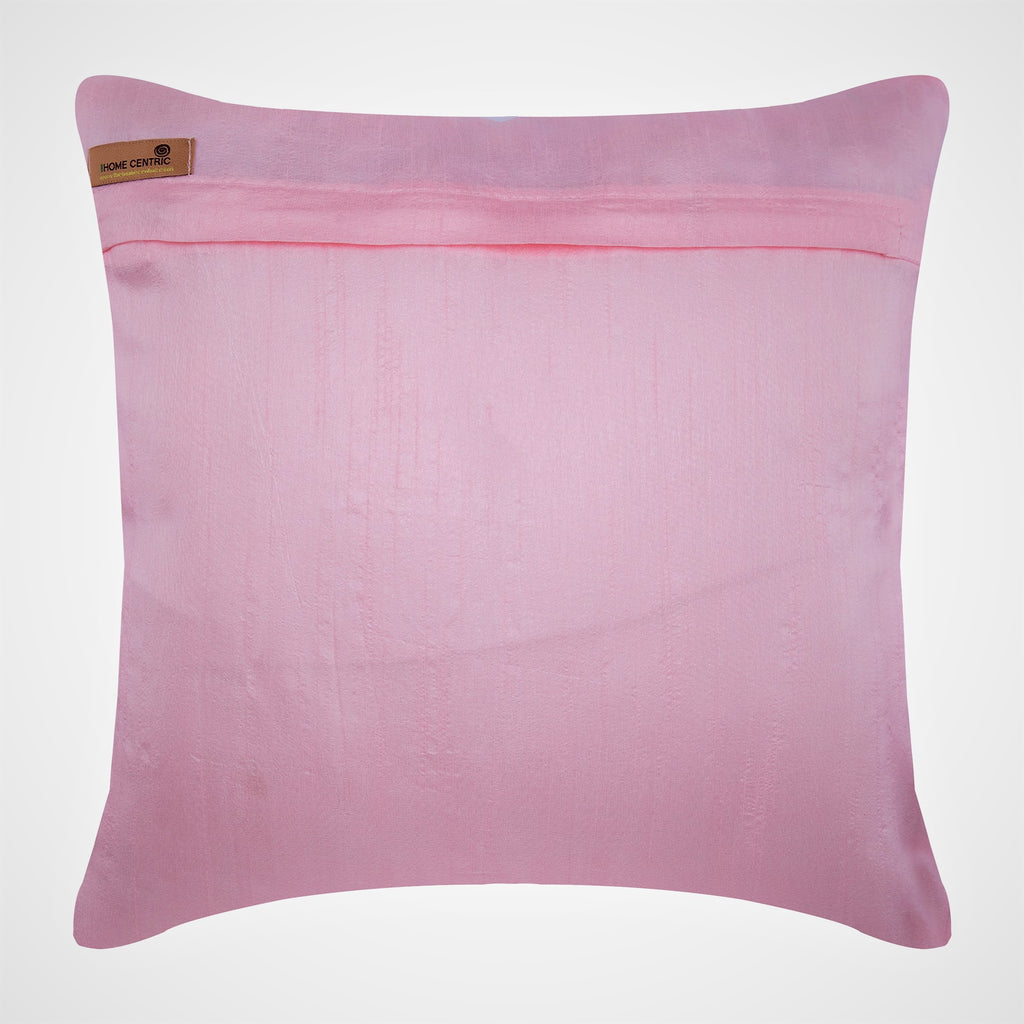 Angelic Charm - Pink Art Silk Dupion Throw Pillow Cover