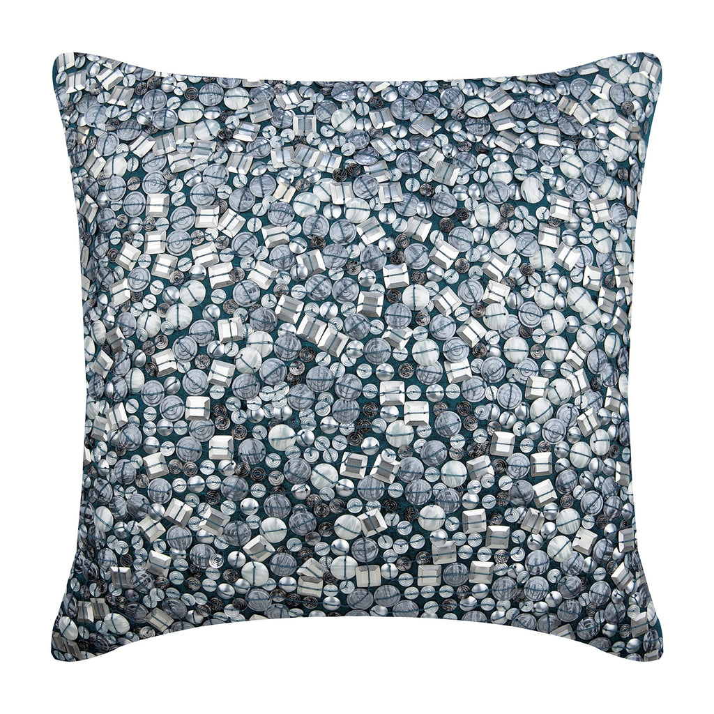 Sea The Dream - Blue Art Silk Throw Pillow Cover