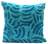 Aqua Ripples Pillow Cover