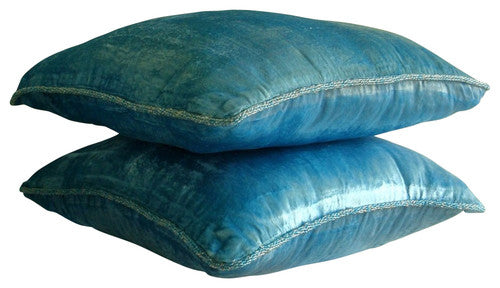 Aqua Shimmer Pillow Cover