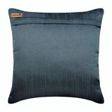 Bohemian Shells - Blue Silk Throw Pillow Cover