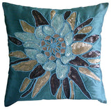 Spark Attraction - Peach Art Silk Throw Pillow Cover