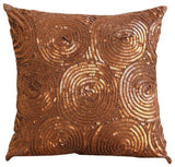 Copper Swirls Pillow Cover