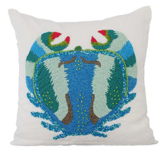 Crab Throw Pillow Cover