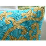Creative Ribbons - Blue Art Silk Throw Pillow Cover