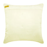 Delicate Bloom - Ivory Satin Throw Pillow Cover
