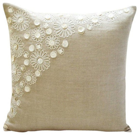 products/elegance-beige-linen-french-toile-contemporary-mother-of-pearl-pillow-covers.jpg