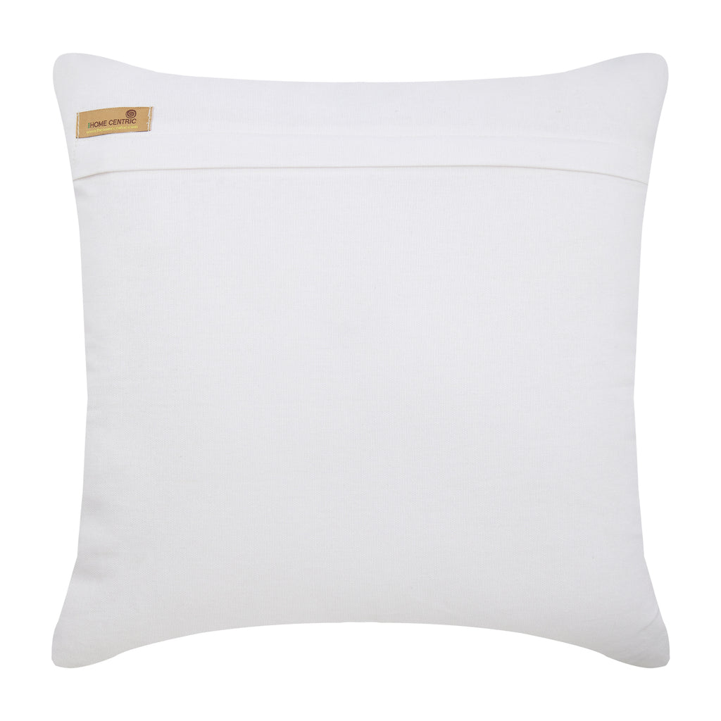 Floral Lake - White Cotton Canvas Throw Pillow Cover