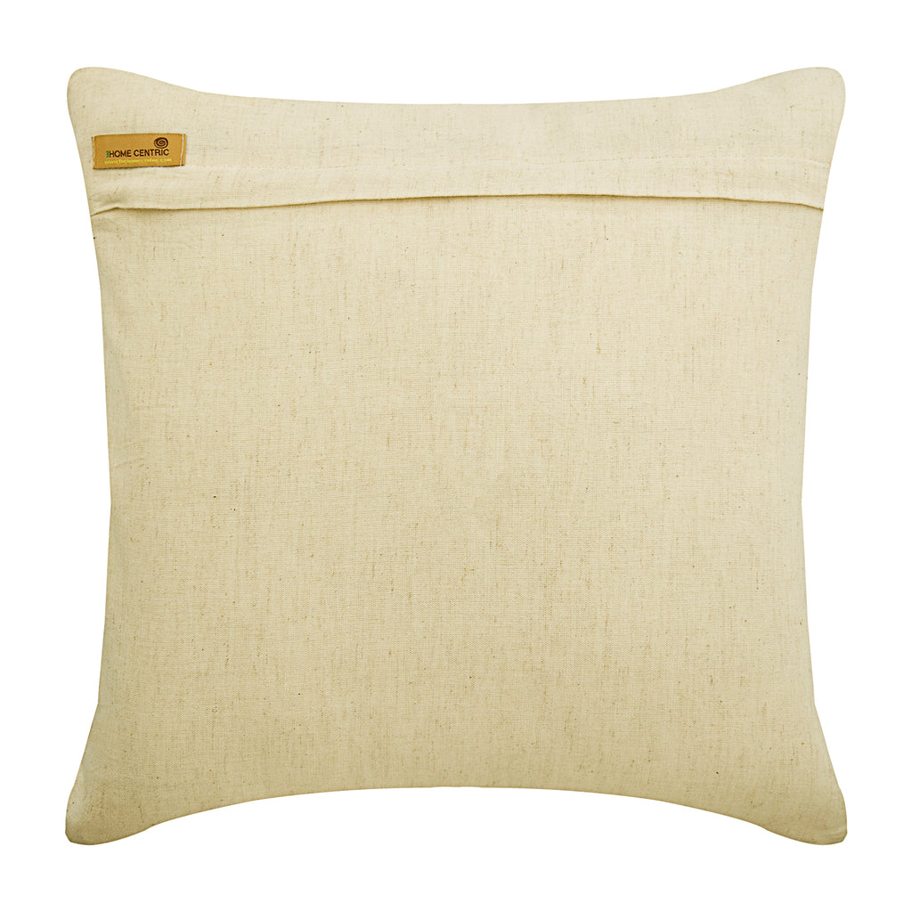 Giraffe Talk - Natural Beige Linen Throw Pillow Cover