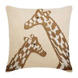 Giraffe Talk Pillow Cover