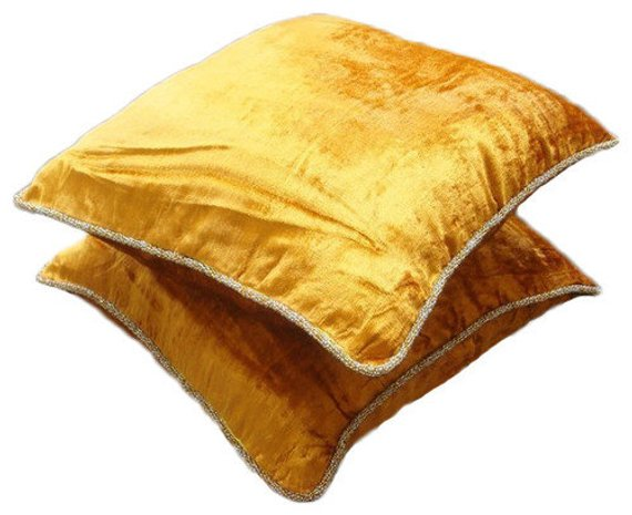 Pearl Shimmer - Light Beige Velvet Throw Pillow Cover