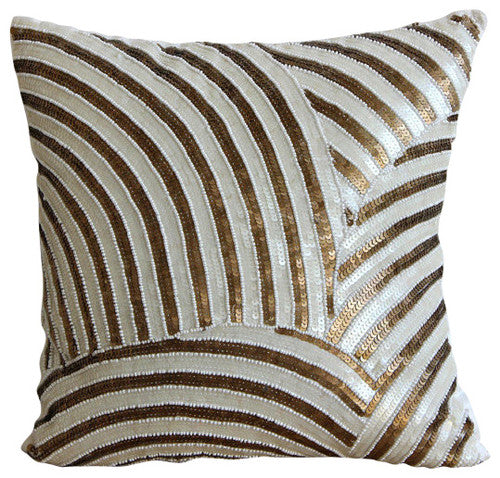 Gold Glamorous Pillow Cover