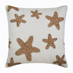 Gold Starfish Pillow Cover