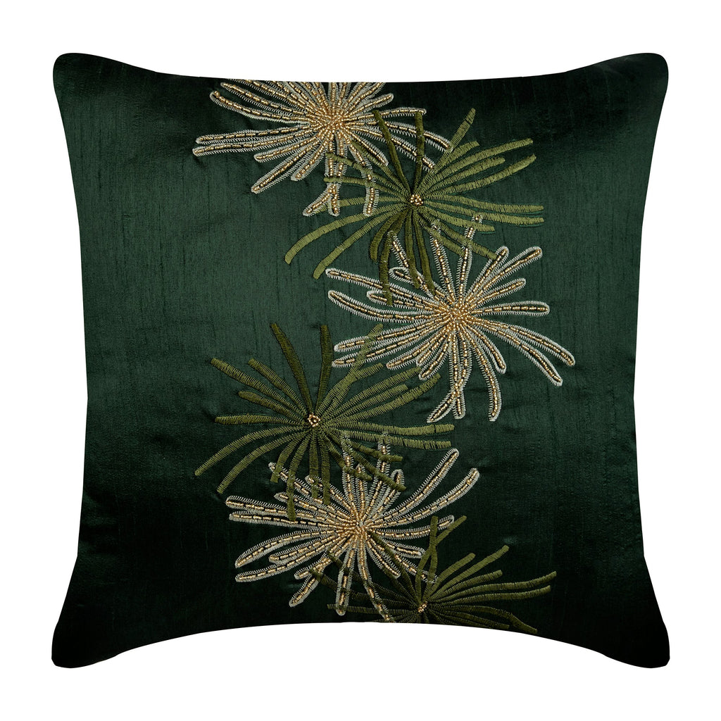 Green Foliage Pillow Cover