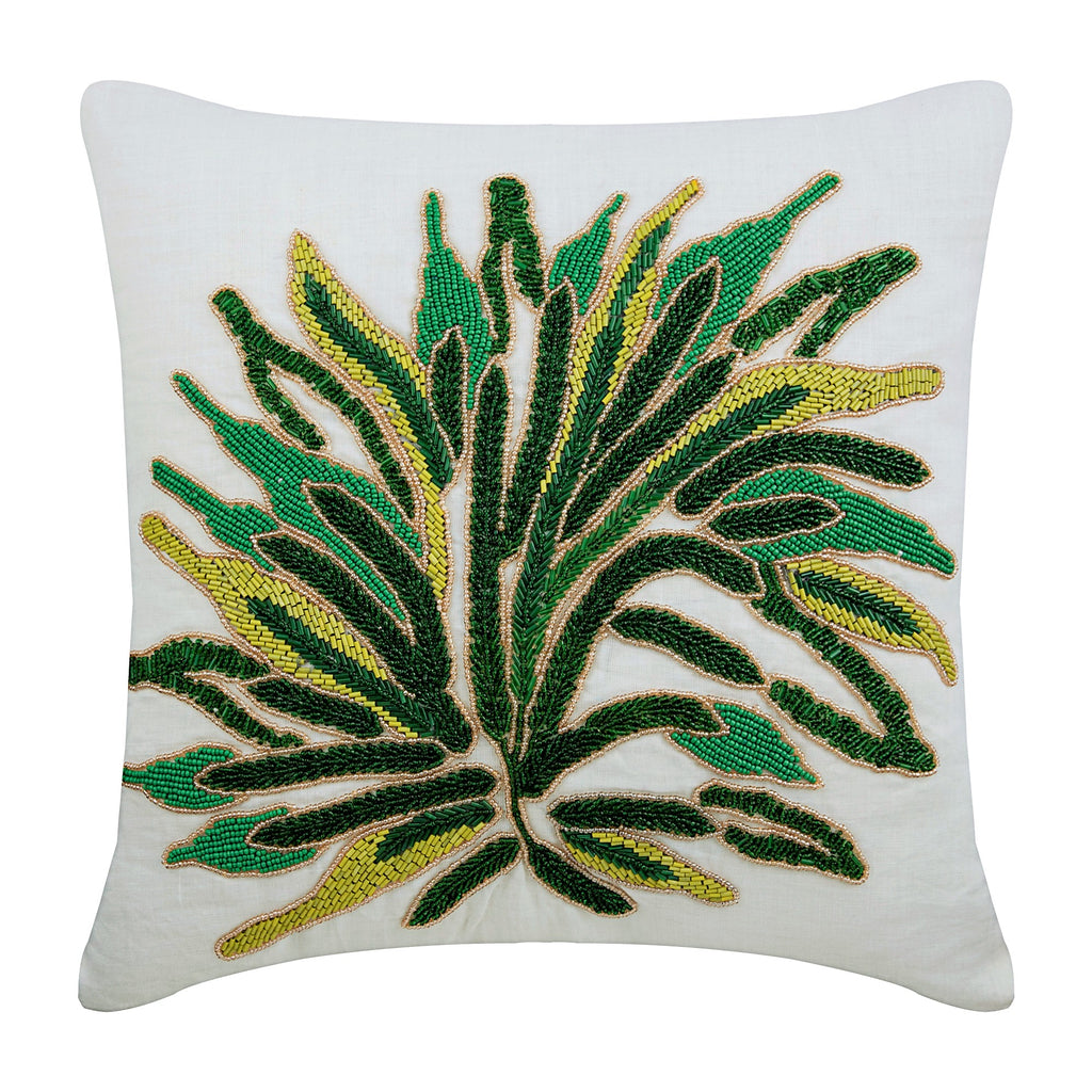 Green Shrub Pillow Cover