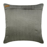 Honestly Silver - Silver Art Silk Dupion Throw Pillow Cover