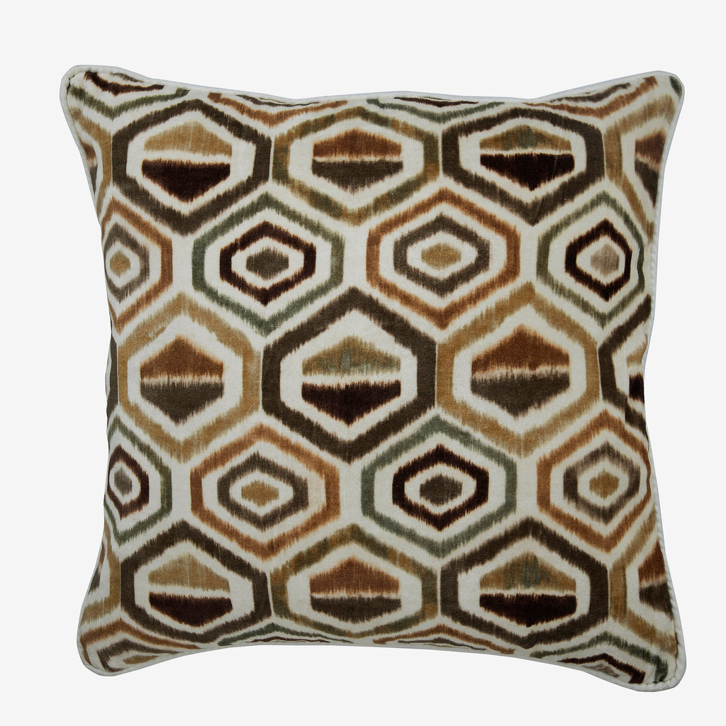 Honey Hexagon Pillow Cover