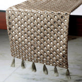Crystal Gazer - Gold Silk Decorative Table Runners