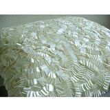 Ivory Elegance - Ivory Art Silk Throw Pillow Cover