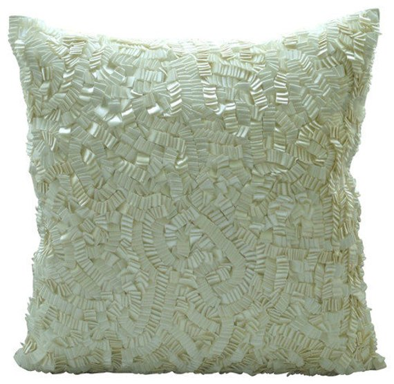 Ivory Elegance Pillow Cover