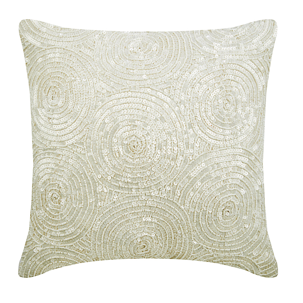 Ivory Swirls Pillow Cover