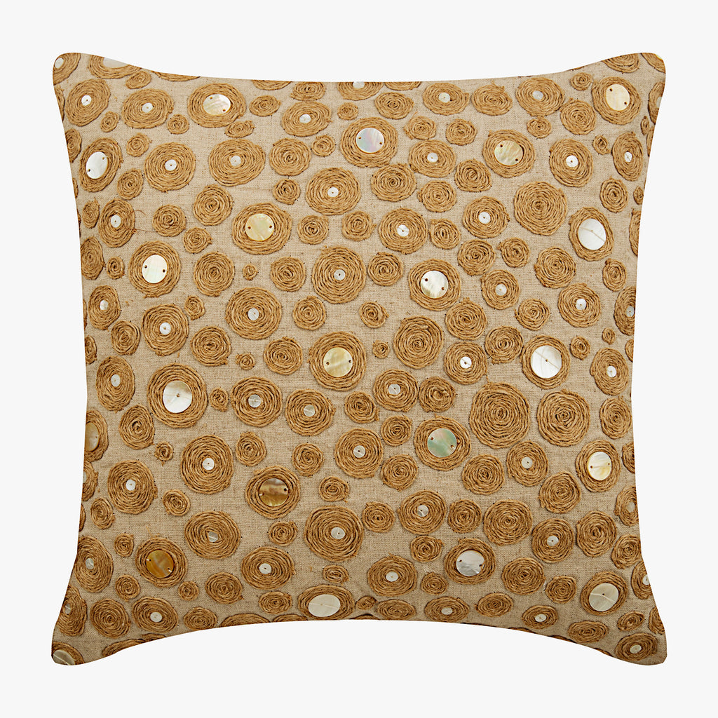 Jute Centric Pillow Cover
