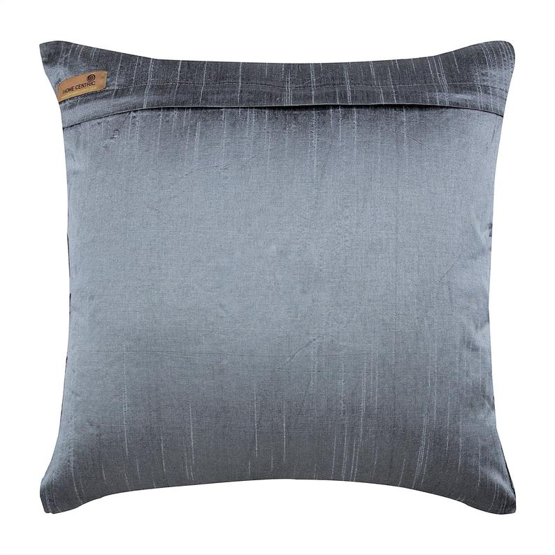 Magnet Resist - Gray Art Silk Dupion Throw Pillow Cover