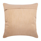 Melodrama - Beige Art Silk Throw Pillow Cover
