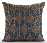 Moroccan Blue Pillow Cover