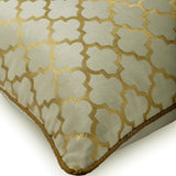Moroccan Lattice - Gold Velvet Throw Pillow Cover
