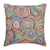 Multi Color Strands Pillow Cover