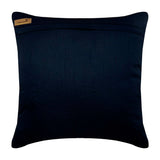 Navy Night Diamonds - Blue Silk Throw Pillow Cover