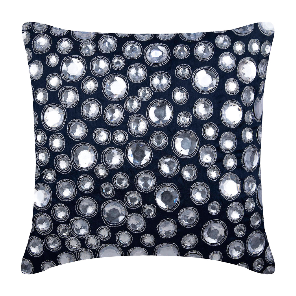 Navy Night Diamonds Pillow Cover