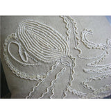 Octopus - Natural Beige Cotton Linen Throw Pillow Cover