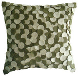 Chocolate Souffle - Brown Felt Throw Pillow Cover